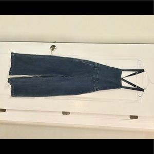 Madewell Tie back Denim Jumpsuit/Overalls G7778